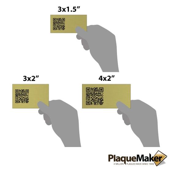 Brass QR Tag Size