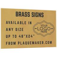 Brass Signs