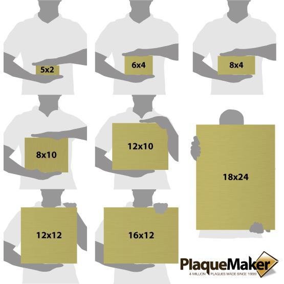 Brass Signs Size Guide