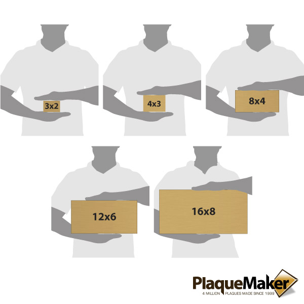 Bronze Address Plaque Size Chart