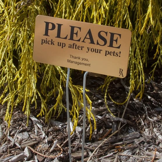 bronze garden sign