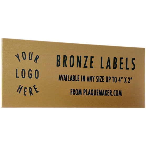 bronze wall tag