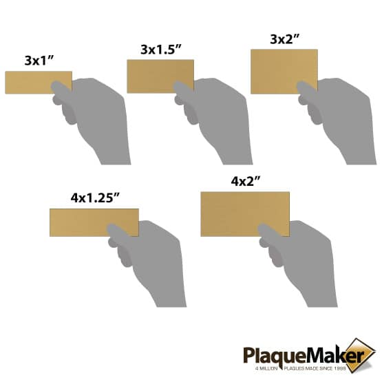 bronze wall tag sizes