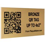 Bronze QR Code Tag