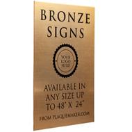 Bronze Signs
