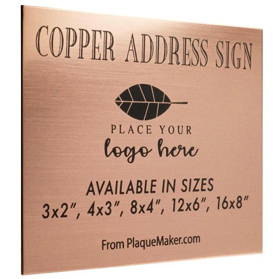 Copper Address Sign