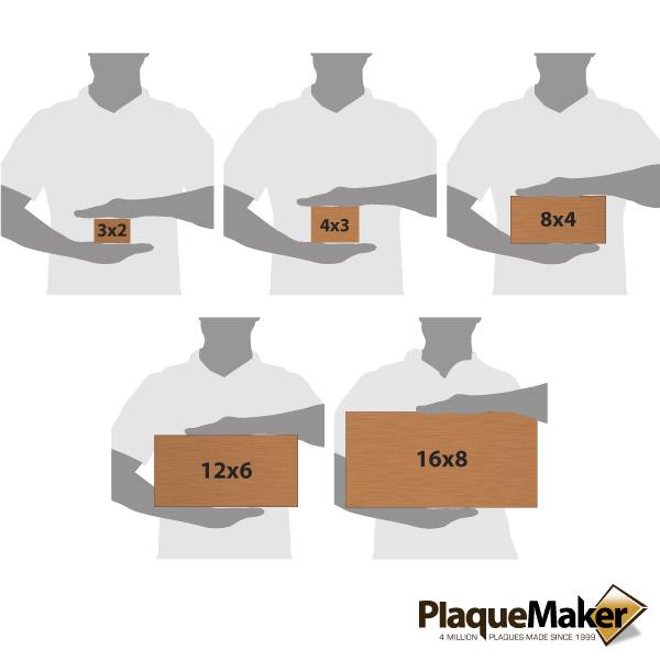 Copper Address Plaque Size Chart