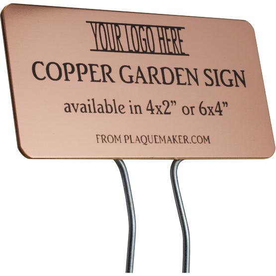 copper garden sign