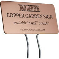 copper garden sign