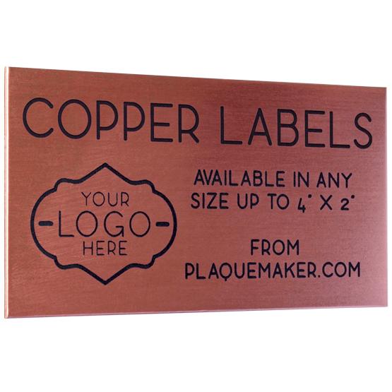 copper wall tag