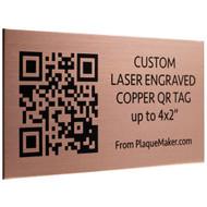 Copper QR Code Tag