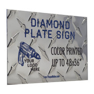 Diamond Plate Sign