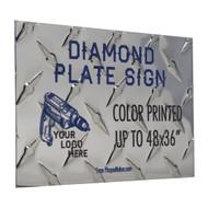 Diamond Plate Sign