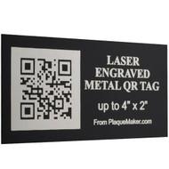 Laser Metal QR Code Tag
