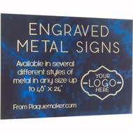 Laser Engraved Metal Sign