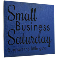 Faux Leather Blue Sign