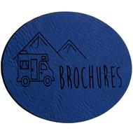 Faux Leather Blue Labels