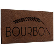 Faux Leather Dark Brown Labels