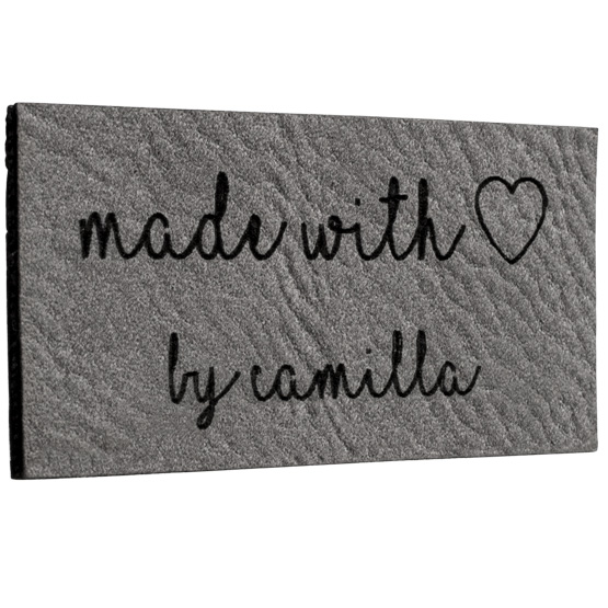 Faux Leather Gray Labels
