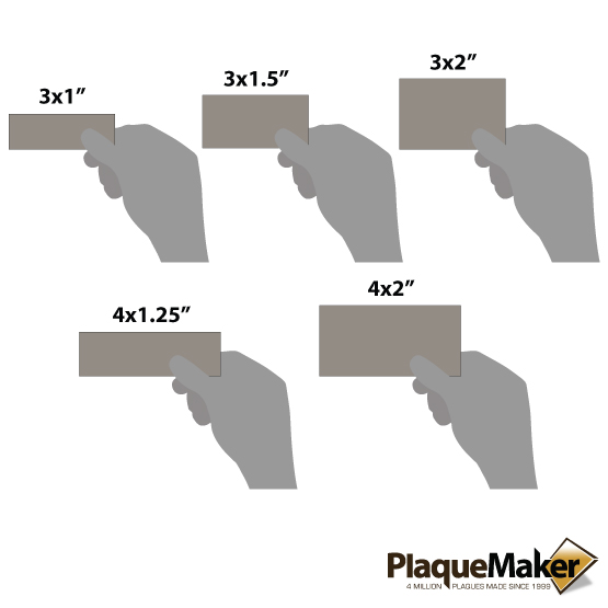 Faux Leather Gray Labels Sizes