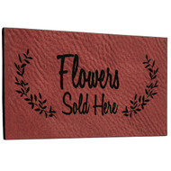 Faux Leather Rose Labels