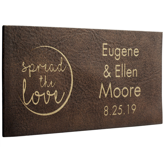 Faux Leather Rustic with Gold Label