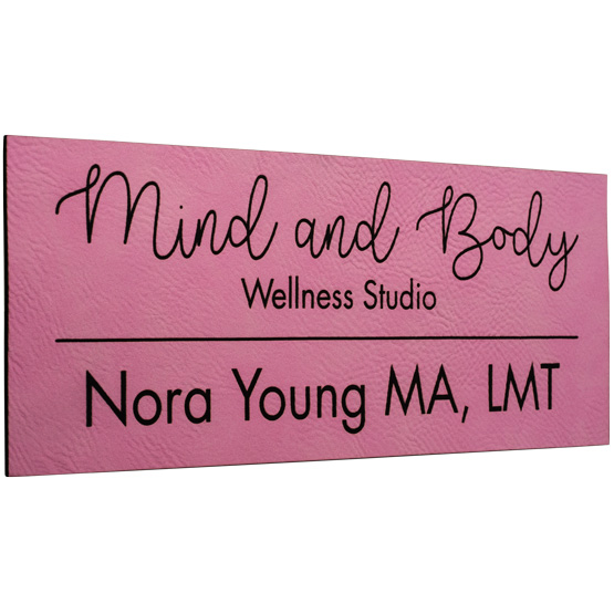 Faux Leather Pink Sign