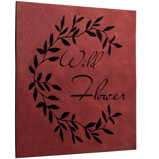 Faux Leather Rose Sign