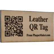 Leather QR Code Tag