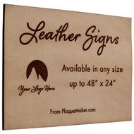 Engraved Leather Signs