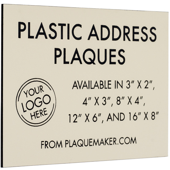Plastic Address Plaque
