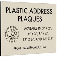Plastic Address Plaque