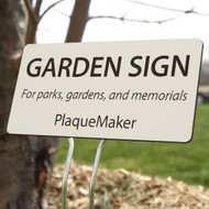 Plastic Garden Sign Sale