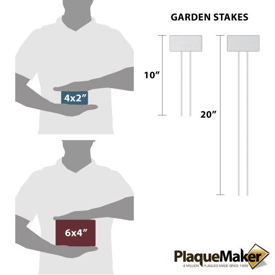 Plastic Garden Markers Size Chart