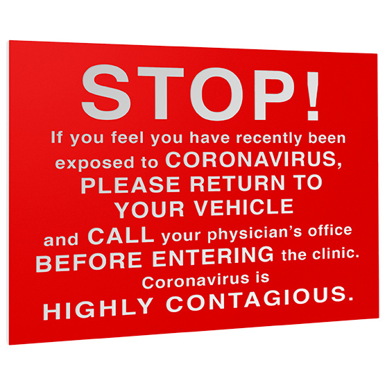 Contagious Warning Plastic Sign