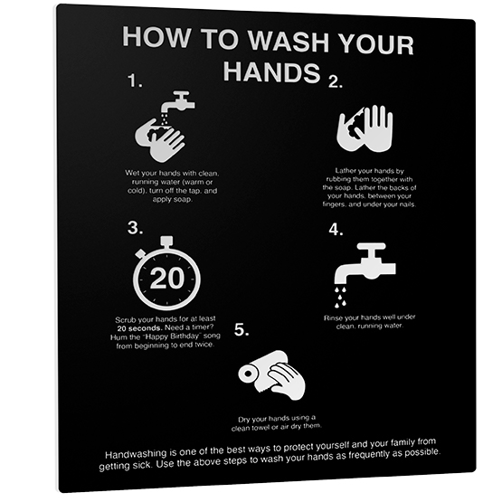 How to Wash Your Hands Sign