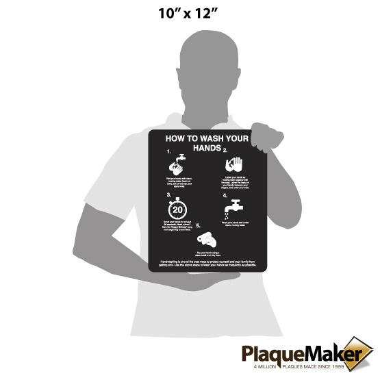 How to Wash Your Hands Sign Size