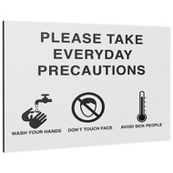 Take Everyday Precautions Sign