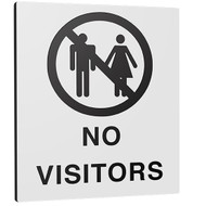 No Visitors Plastic Signs