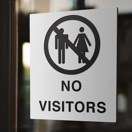 No Visitors Plastic Signs