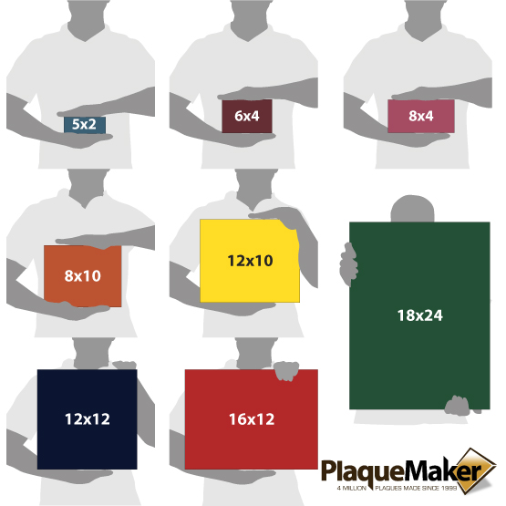 Plastic Hospital Signs Sizes