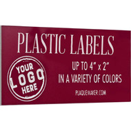 plastic wall tag
