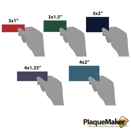 plastic wall tag sizes