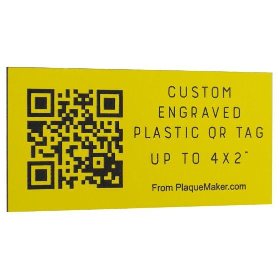 Plastic QR Code Tag