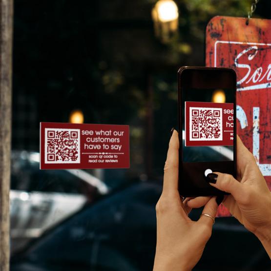 Plastic QR code sign