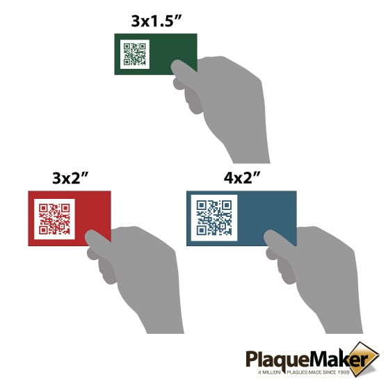 Plastic QR Code Tag Size Guide