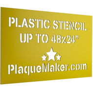 Plastic Stencil Sign