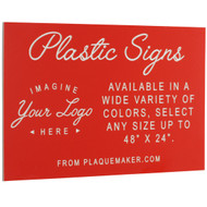 Ships Today: Plastic Signs & Plates