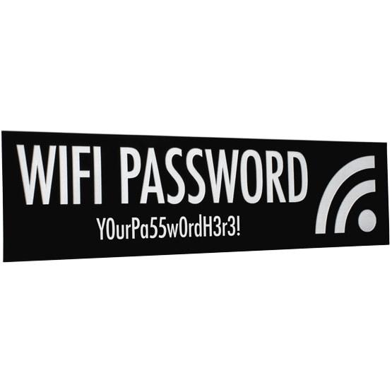 plastic wifi sign