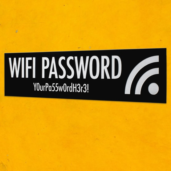 Plastic wifi signs